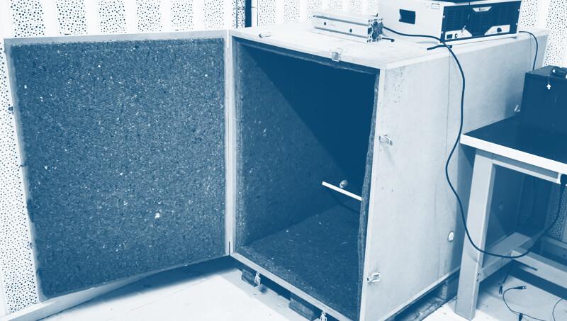 banc essai squeak and rattle acoustique