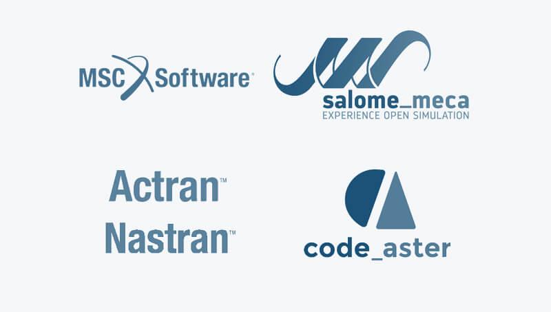 logiciels calculs salome meca actran code aster msc software